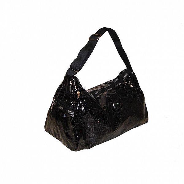 Dámská černá kabelka LeSportsac se třpytkami