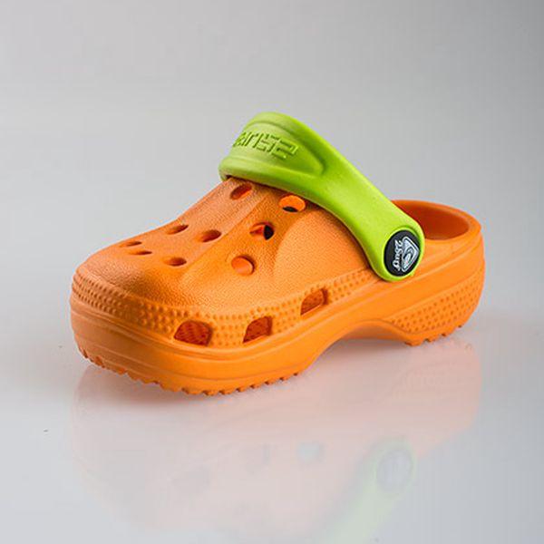 Oranžovo zelené nazouváky