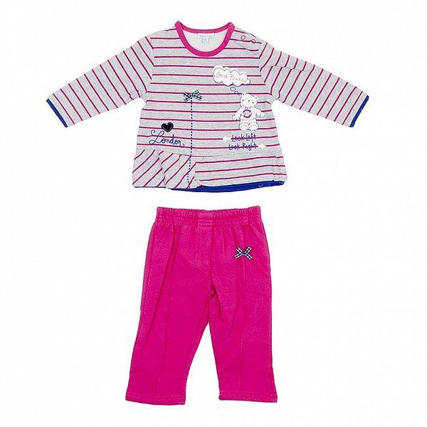 Dětský růžovo-šedý set kalhot a trika Yatsi