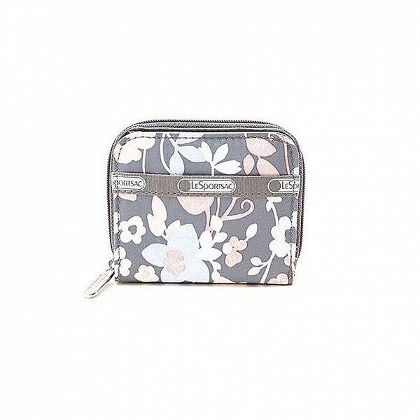 Dámska šedá peňaženka LeSportsac s kvetinami