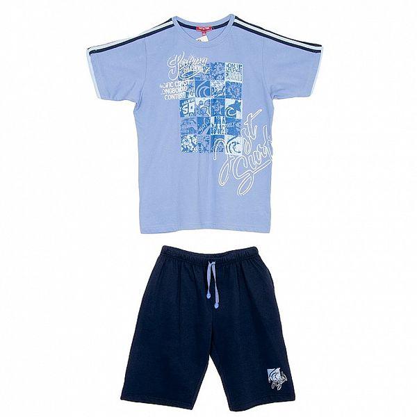 Dětský modrý set šortek a trika Yatsi
