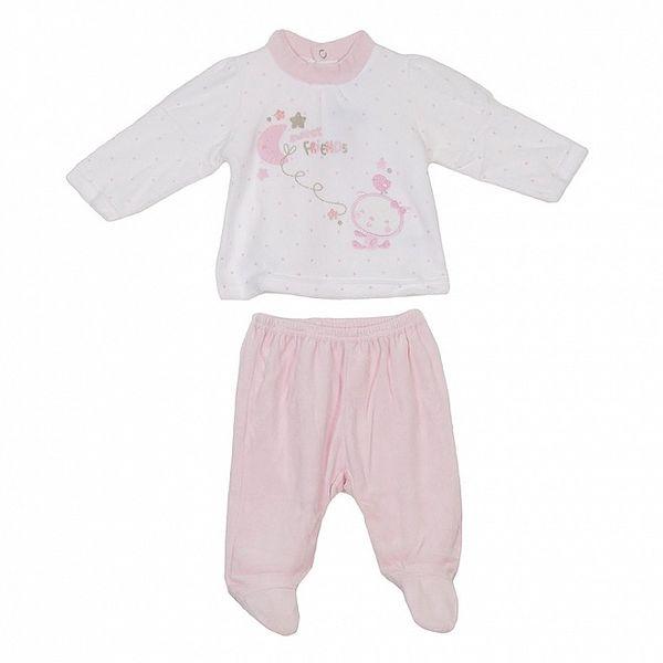 Dětský bílo-růžový set kalhot a trika Yatsi