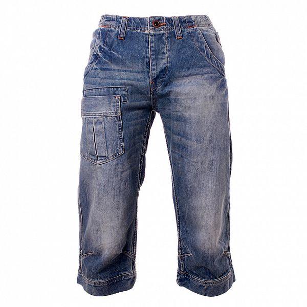 Pánské džínové modré krátké kalhoty Exe