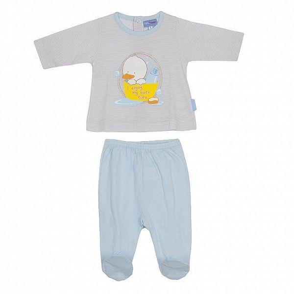 Detský modrý set nohavíc a pruhovaného trička Yatsi