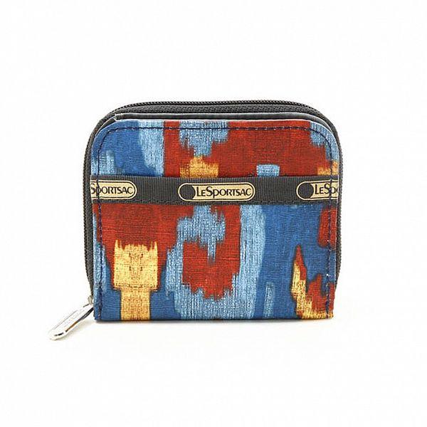 Dámská modro-červená peněženka LeSportsac se srdíčky