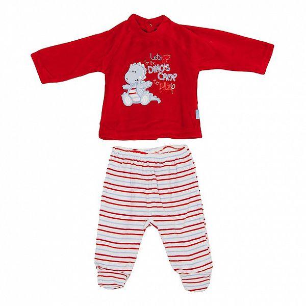 Detský červeno-biely set nohavíc a trička Yatsi