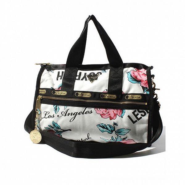 Víkendová taška LeSportsac květinami