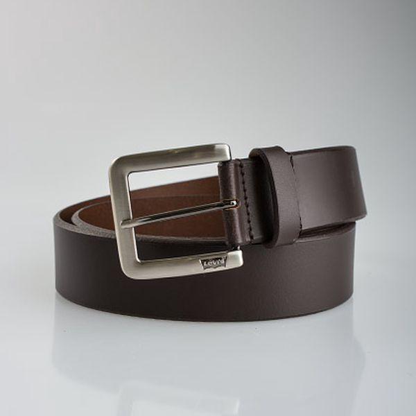 Pánský hnědý kožený pásek Bruno