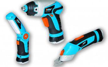 Multifunkční sada tři aku nástrojů Asist AE236S - šroubovák, multifunkční nůžky a svítilna