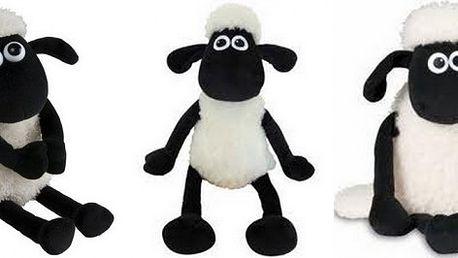 Oblíbená plyšová ovečka Shaun ve 3 velikostech! Po zmáčknutí bříška heboučká ovečka bečí.