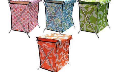 Skládací koš na prádlo ve čtyřech veselých barvách!
