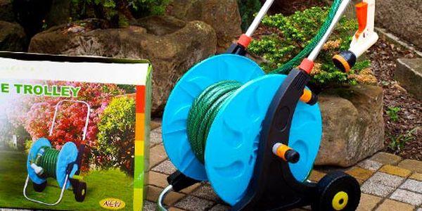 Zahradní hadice na bubnu s vozíkem – 20 m