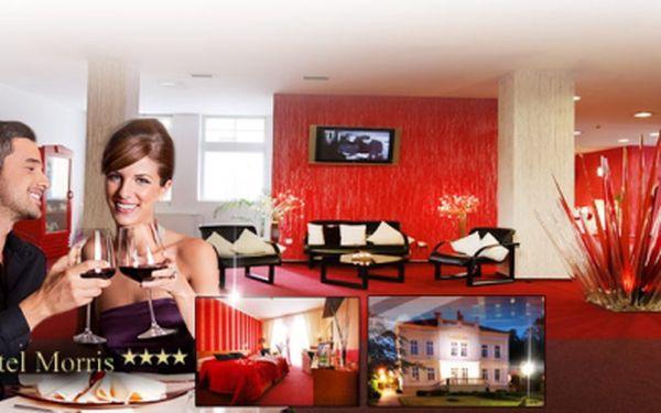 Luxus Parkhotelu MORRIS**** za 1490 Kč pro dva! Pokoj EXKLUSIVE, bohatá POLOPENZE, privátní aroma WHIRLPOOL a bylinková SAUNA za exkluzivních 1490 Kč! Sleva 65%!
