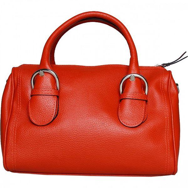 Dámská oranžová kabelka Made in Italia