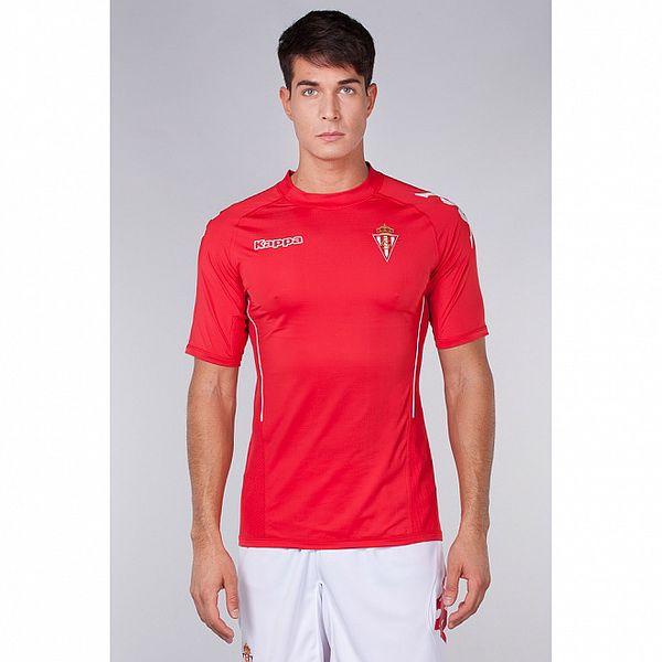 Pánské červeno-bílé triko s potisky Kappa