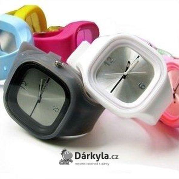 Silikonové hodinky Square - sportovní a elegantní