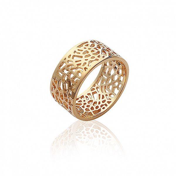 Dámsky pozlatený ozdobně perforovaný prsteň La Mimossa