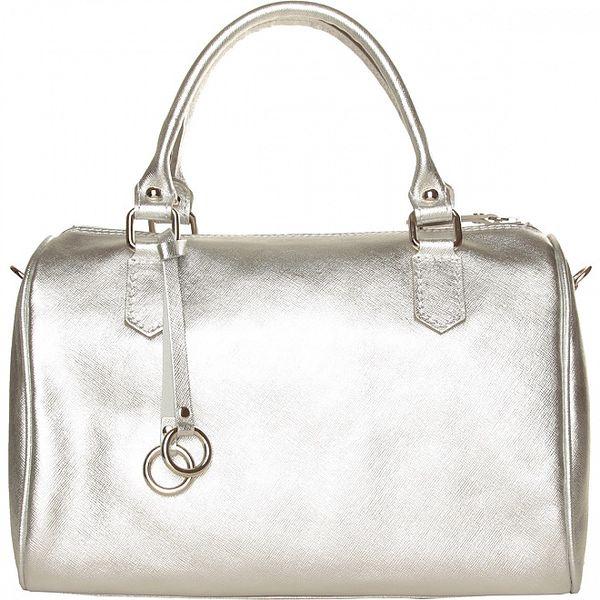Dámská stříbrná kabelka Made in Italia s přívěskem