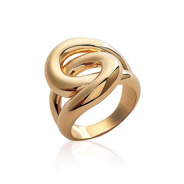 Dámsky pozlatený prepletaný prsteň La Mimossa