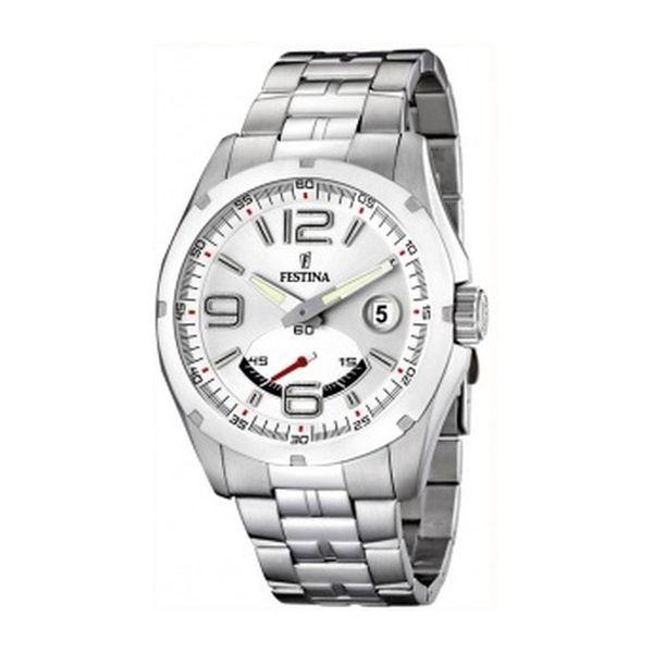 Pánské hodinky Festina stříbrný řemínek