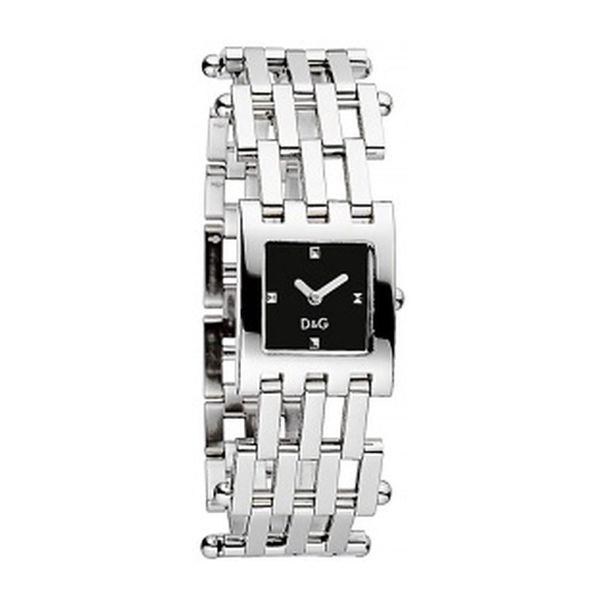 Dámské hodinky Dolce&Gabbana stříbrné čtvercový ciferník