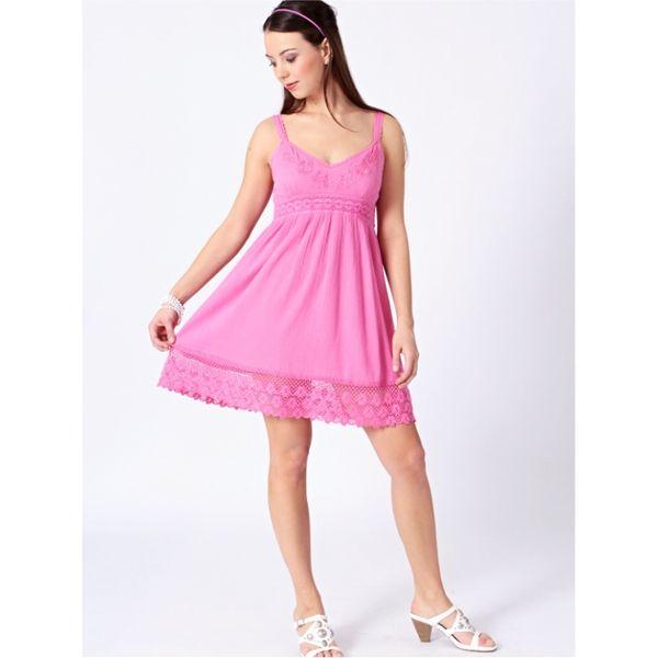 Dámské šaty Lemon Beret růžové krajka