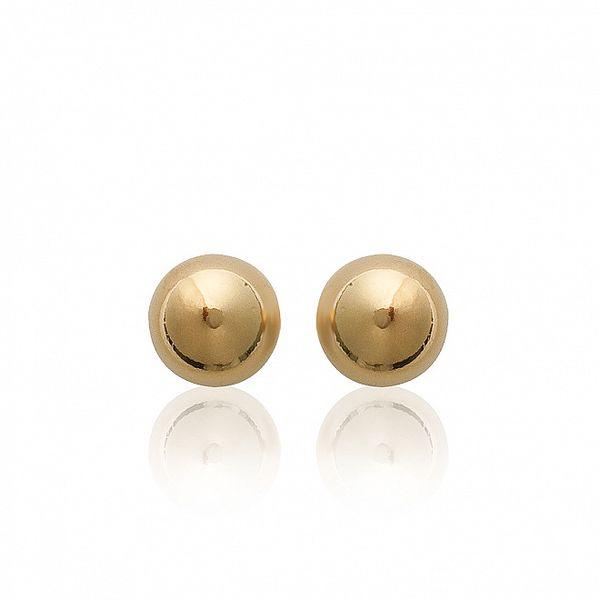Dámske zlaté perličkové náušnice s puzetkou Mimossa