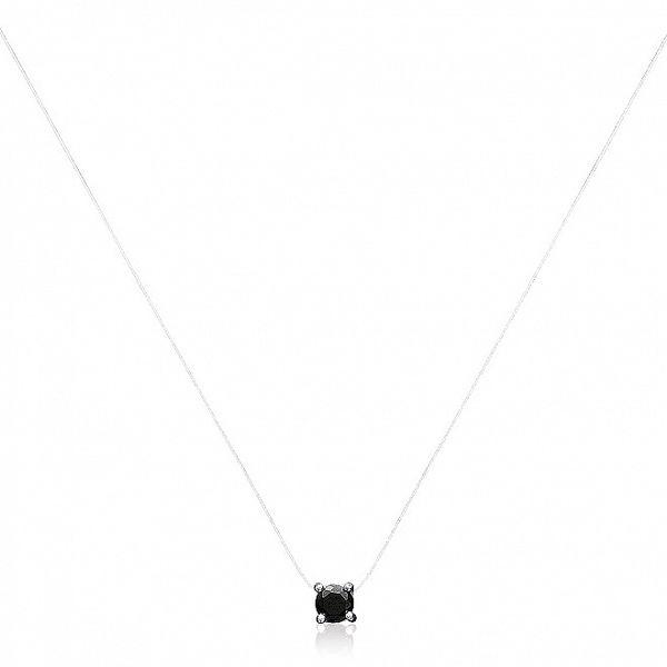 Dámský náhrdelník s černým zirkonem La Mimossa