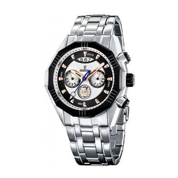 Pánské hodinky Festina stříbrné stylový ciferník