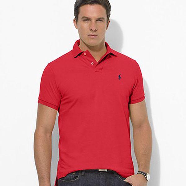 Červené polo triko