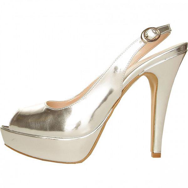 Dámské stříbrné sandály Made in Italia
