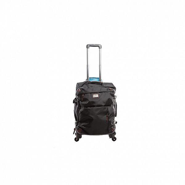 Černý nylonový kufr na kolečkách Tommy Hilfiger