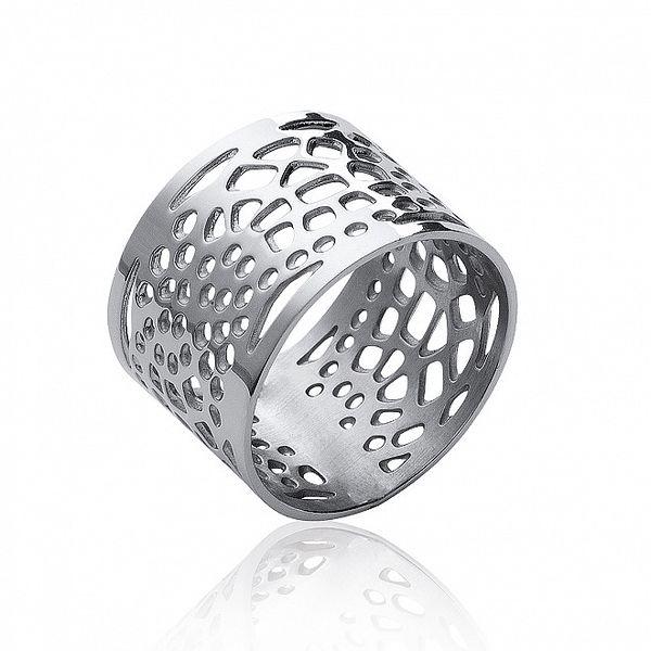 Dámsky oceľový filigránový prsteň La Mimossa