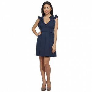 Dámske námornícky modré šaty s volánikmi Red Valentino