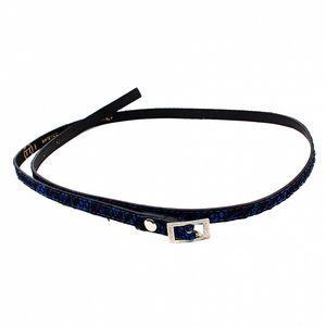 Dámský modrý pásek s černou krajkou Bagatt