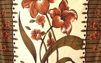 Hebká deka z mikrovlákna - Květy