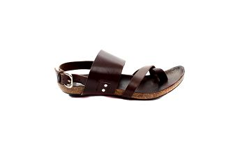 Dámské tmavě hnědé sandálky s korkovou podrážkou Bagatt