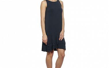 Dámske modro-čierne šaty s volánovými lemami Red Valentino