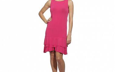 Dámske ružové šaty s volánovými lemami Red Valentino