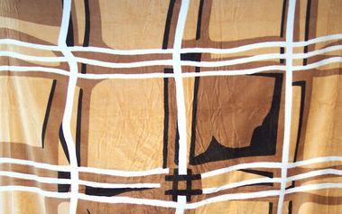 Hebká deka z mikrovlákna - Čtverce