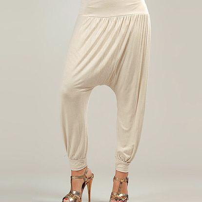 Dámské béžové harémové kalhoty Anabelle