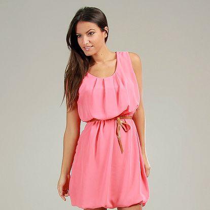 Dámske korálovo ružové šaty Anabelle