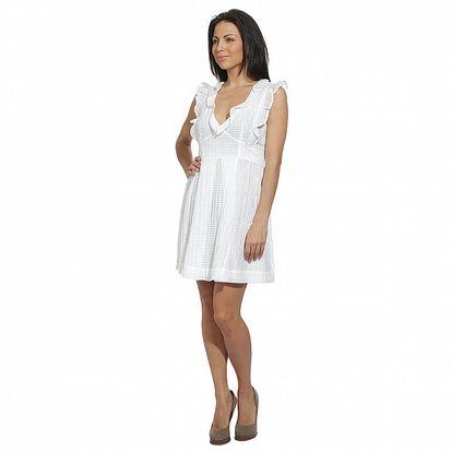 Dámske biele šaty so strieobrnými vláknami Red Valentino