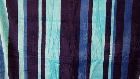 Hebká deka z mikrovlákna - Modré pruhy