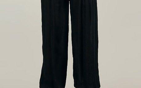 Dámske čierne harémové nohavice s farebným opaskom Anabelle