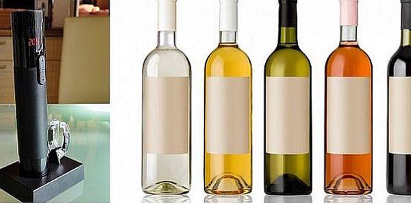 Elektrická vývrtka na víno LCD s teplomerom značky BEZDOTEKU