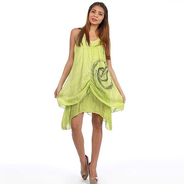 Dámské zelené dvouvrstvé šaty Anabelle