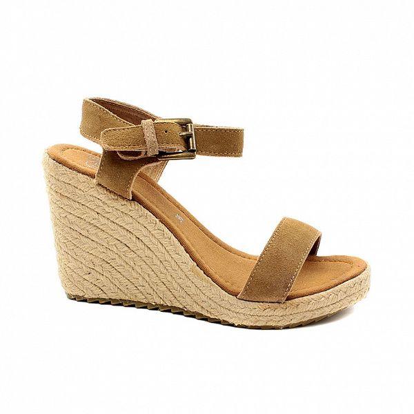 Dámské béžové semišové sandálky na platformě Bagatt