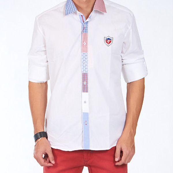 Bílá košile s polodlouhým rukávem