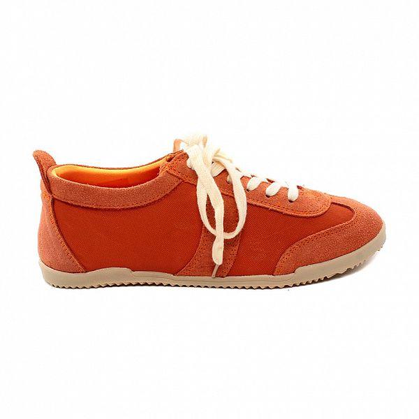 Dámské oranžové kožené tenisky Bagatt